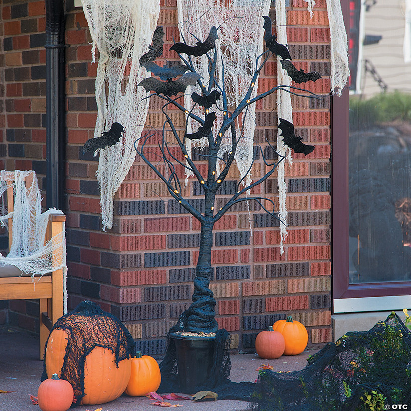 Light-Up Creepy Tree Halloween Décor