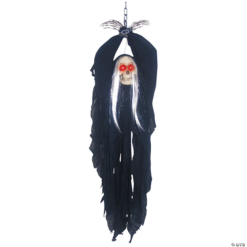 Light-Up Hanging Reaper In Chains Halloween Décor