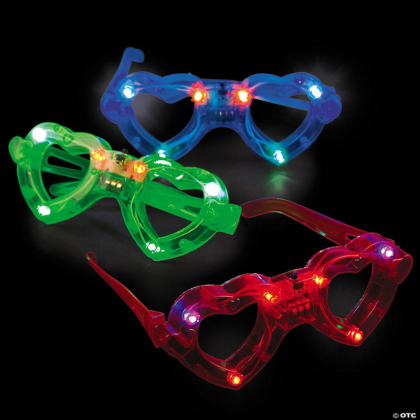 Light-Up Heart Shape Glasses