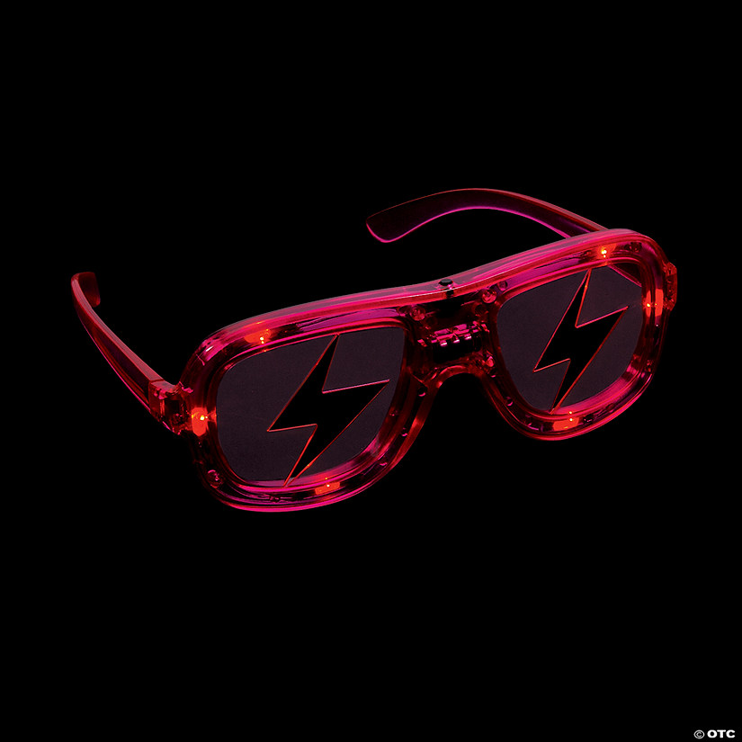 Light-Up LED Lightning Bolt Shading Glasses Audio Thumbnail
