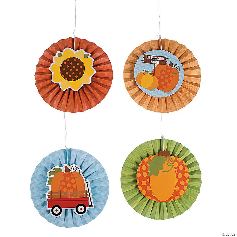 Lil' Pumpkin Hanging Fans with Icons