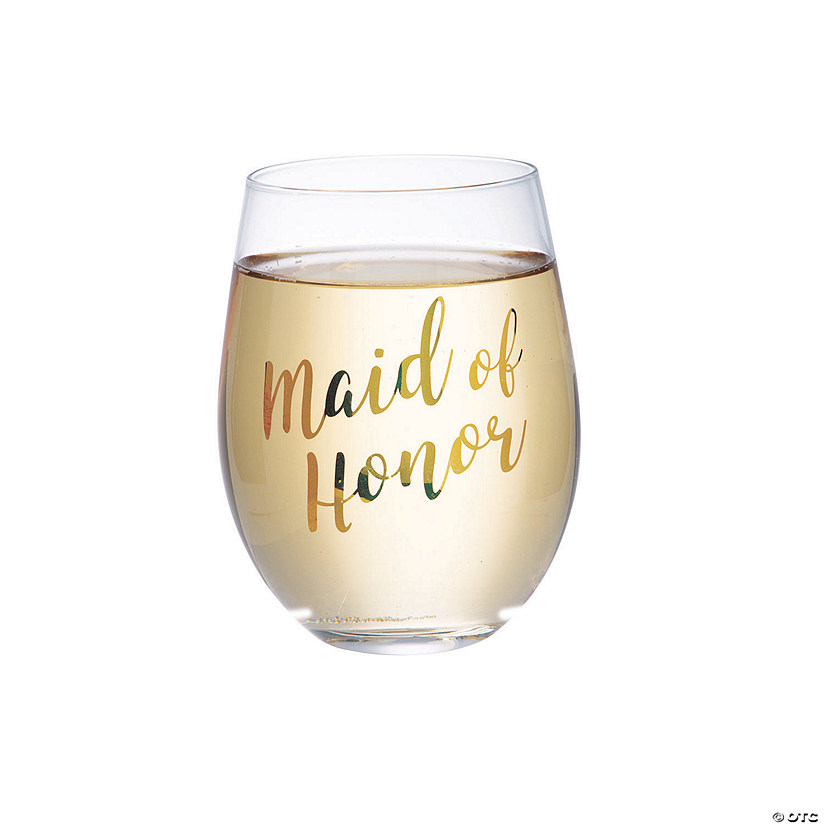 Lillian Rose™ Gold Maid of Honor Stemless Wine Glass Audio Thumbnail