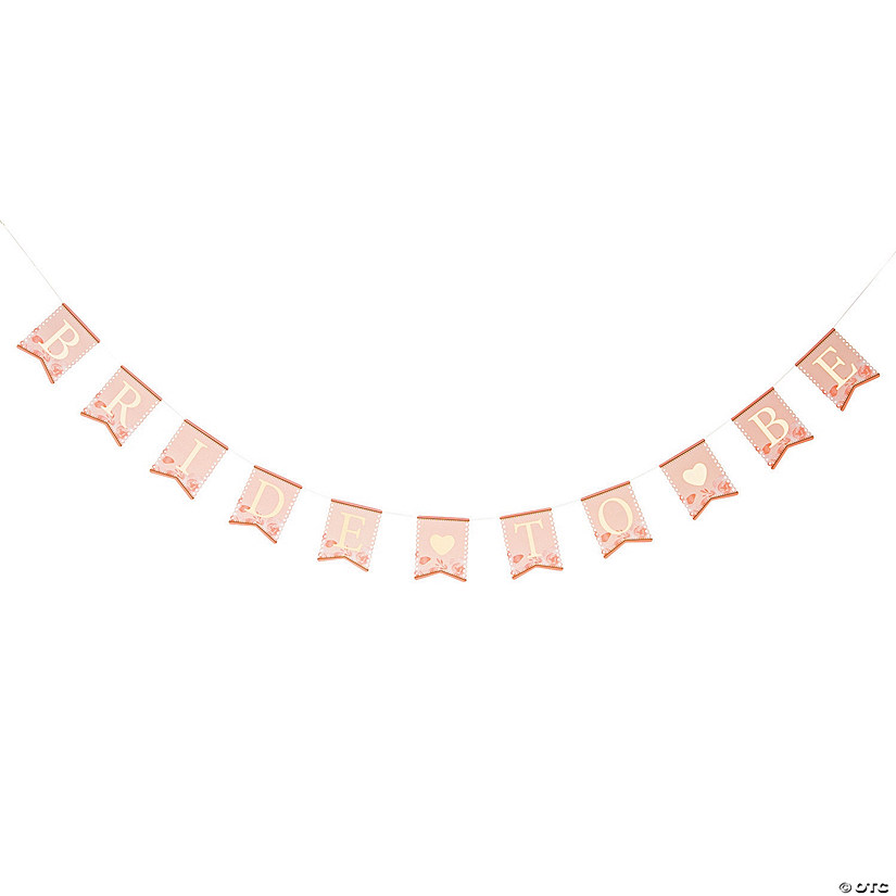 Lillian Rose™ Pink & Gold Bride-to-Be Bunting Audio Thumbnail