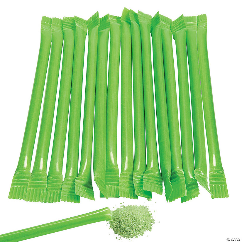 Lime Green Candy-Filled Straws Audio Thumbnail