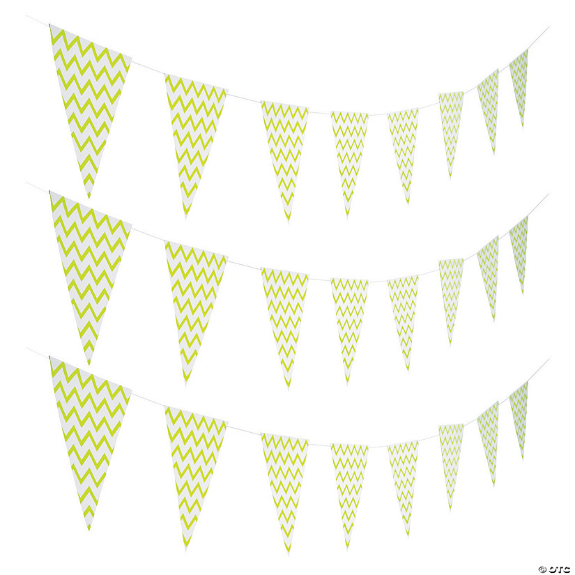 Lime Green Chevron Pennant Banner Audio Thumbnail
