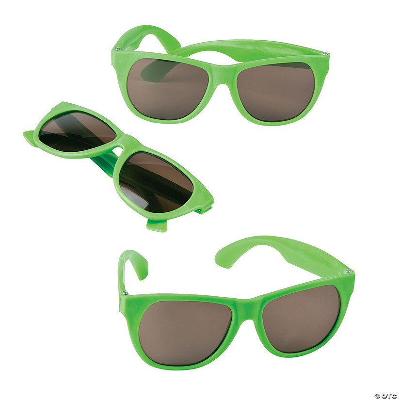Lime Green Nomad Sunglasses - 12 Pc. Image Thumbnail