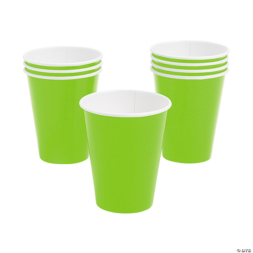 Lime Green Paper Cups - 24 Ct. Image Thumbnail