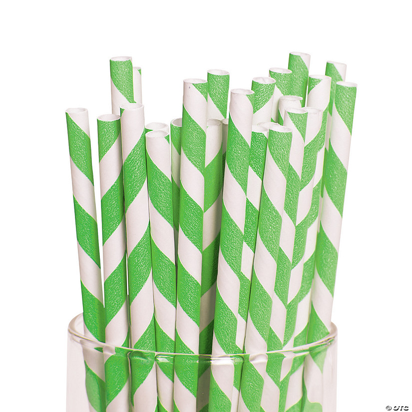 Lime Green Striped Paper Straws Audio Thumbnail