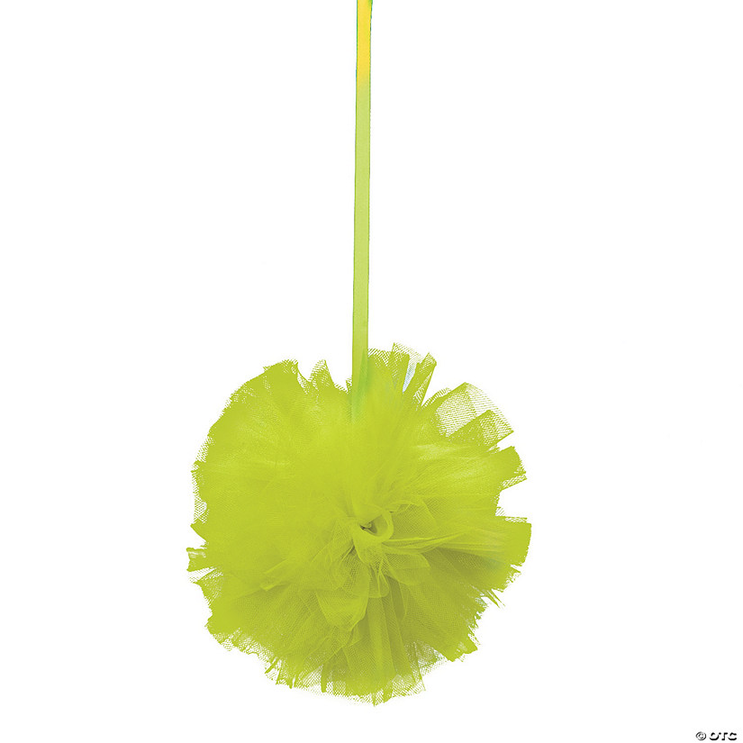 Lime Green Tulle Pom-Pom Decorations Audio Thumbnail