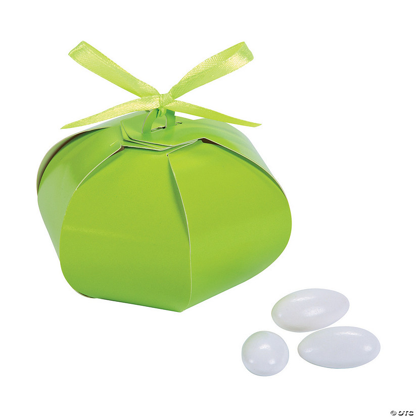 Lime Green Wedding Sphere Favor Boxes