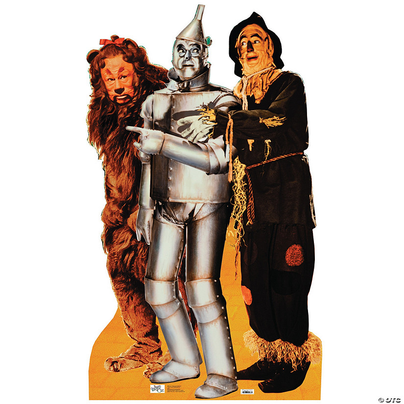 Lion Tinman Scarecrow Wizard Of Oz Cardboard Stand Up