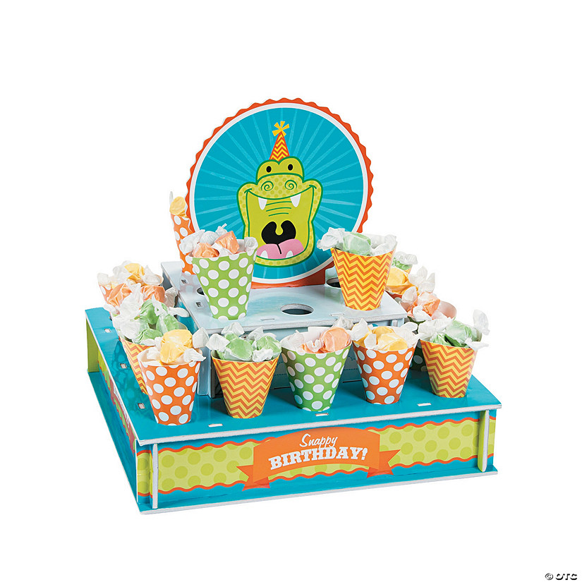 Little Alligator Treat Stand With Cones