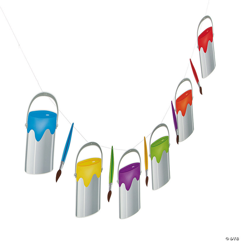 Little Artist Paint Bucket Garland