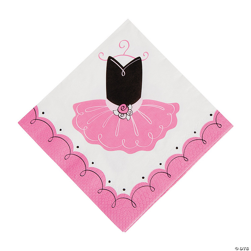 Little Ballerina Luncheon Napkins Audio Thumbnail