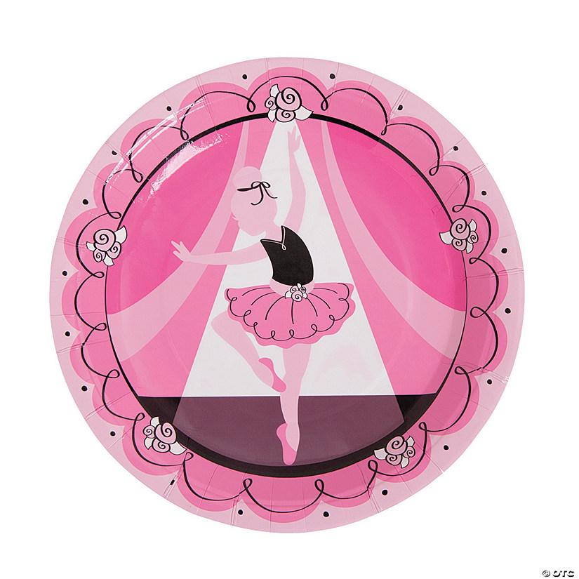 """Ballerina Ballet Dancer Dancing Girl Kids Birthday Party 9/"""" Paper Dinner Plates"""