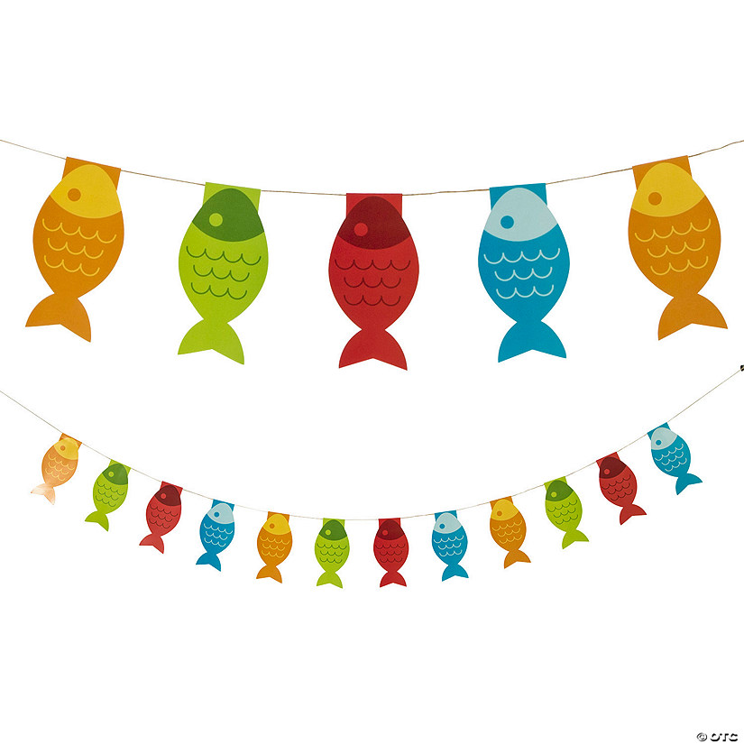 Little Fisherman Fish Paper Pennant Banner Audio Thumbnail