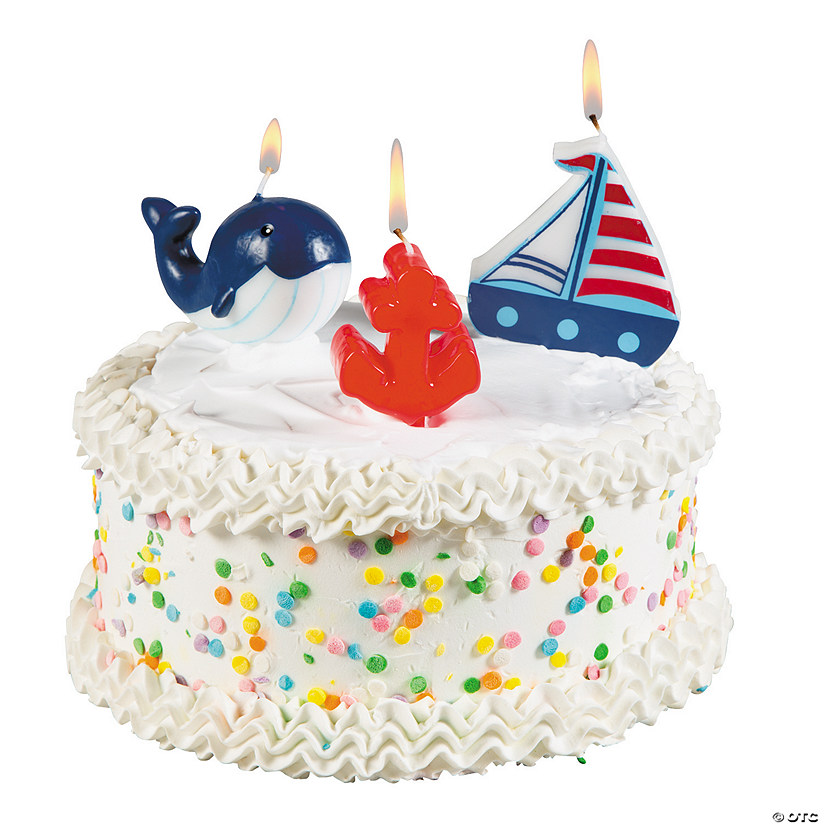 Little Sailor 1st Birthday Candles