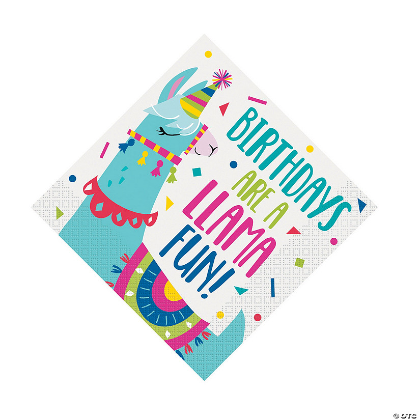 Llama Birthday Luncheon Napkins Audio Thumbnail