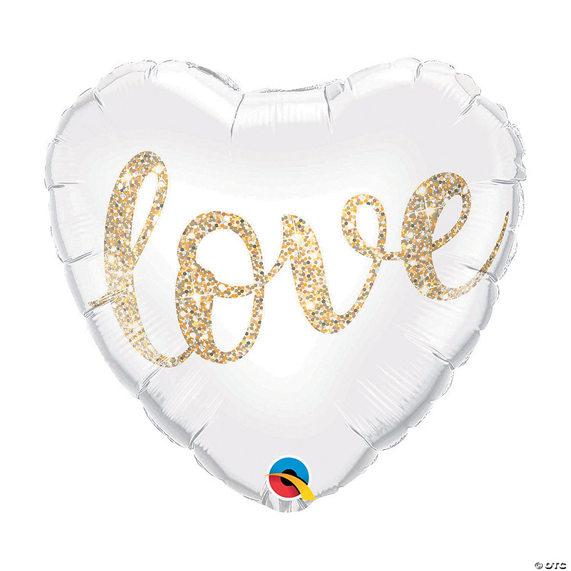 Love Glitter Heart-Shaped Mylar Balloon Audio Thumbnail