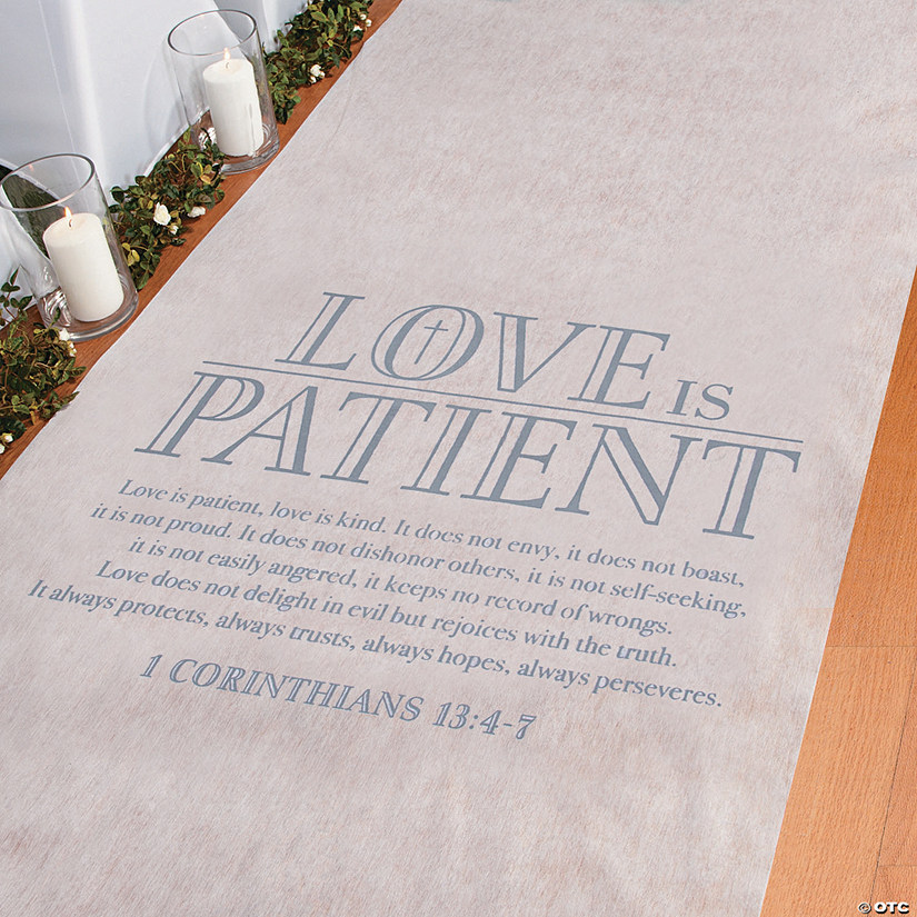 Love is Patient Aisle Runner