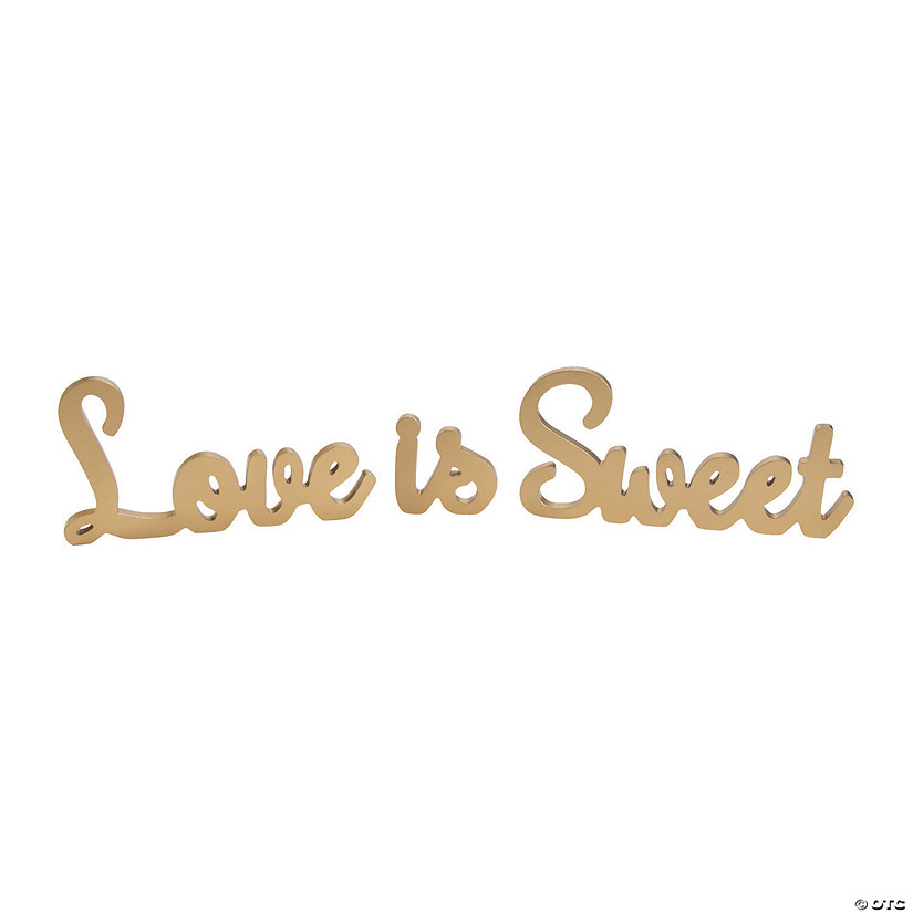 Love is Sweet Gold Table Décor Set