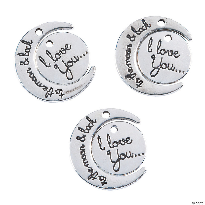 Love You to the Moon Charms