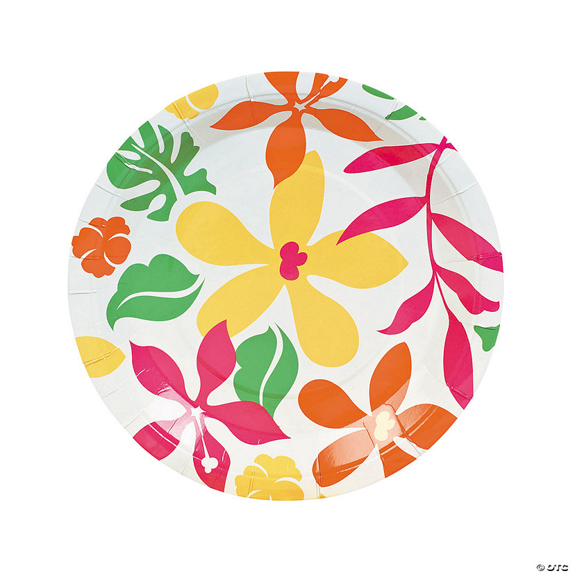 Luau Paper Dinner Plates - 50 Ct. Image Thumbnail