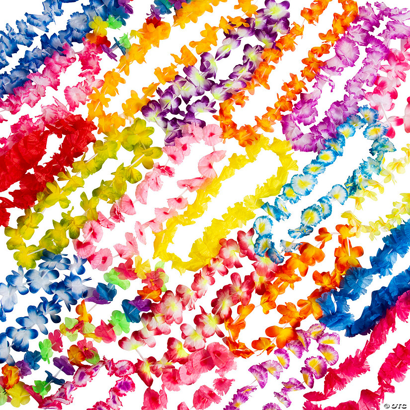 Luau Party Bulk Polyester Lei Assortment - 50 Pc. Audio Thumbnail
