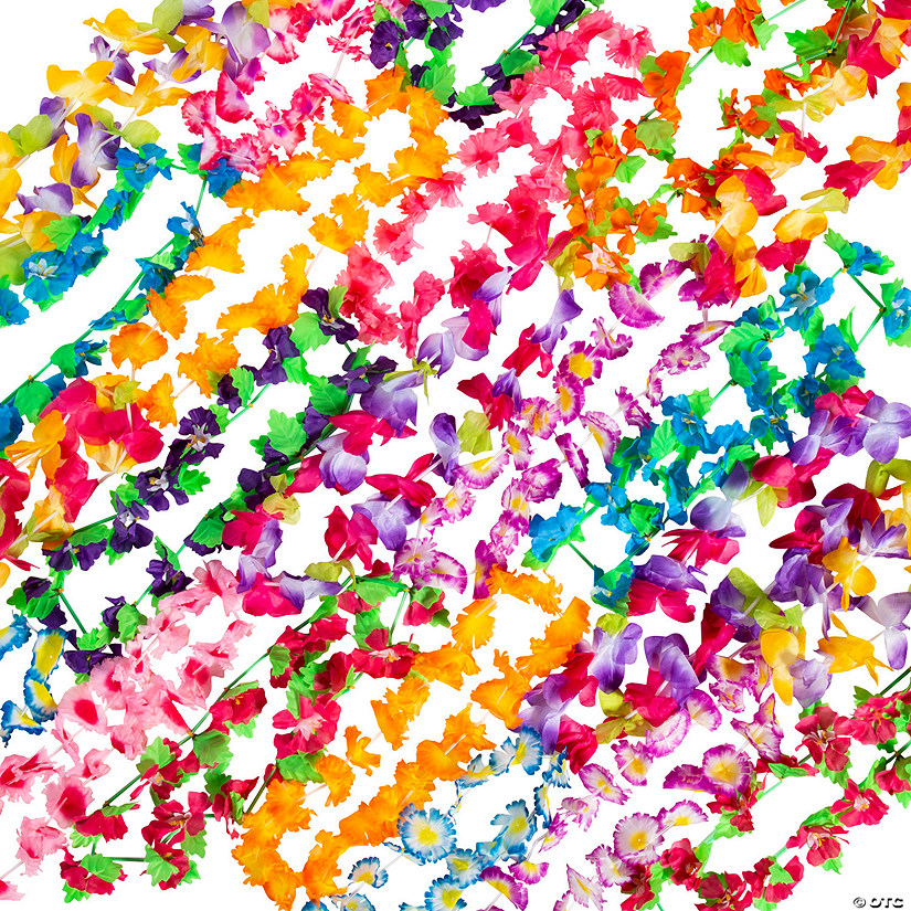 Luau Polyester Lei Assortment - 36 Pc. Audio Thumbnail