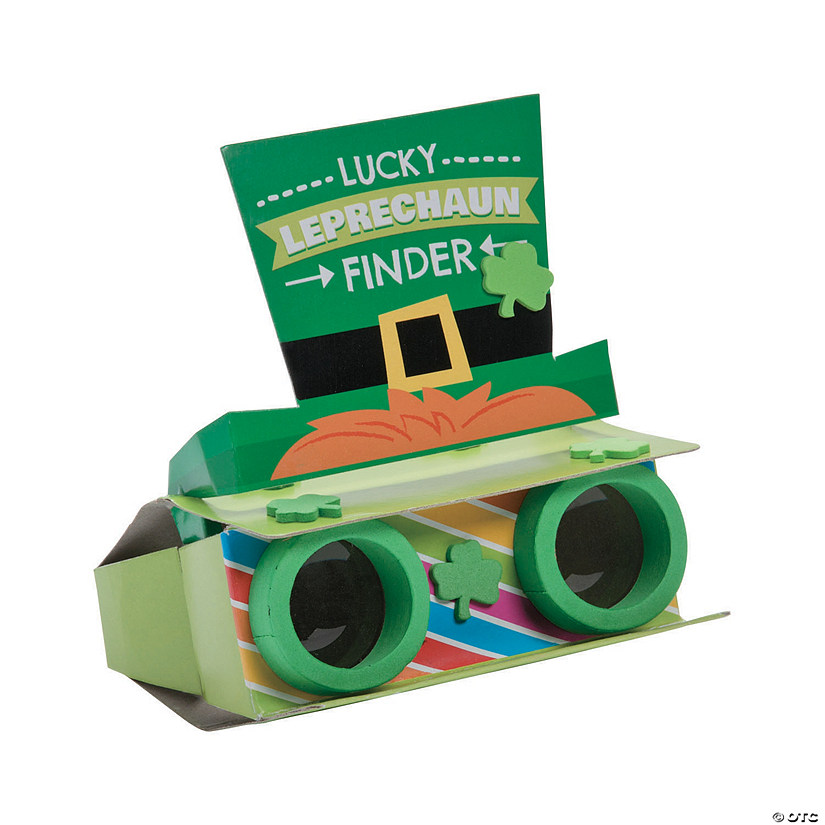 Lucky Leprechaun Binoculars Craft Kit Image Thumbnail