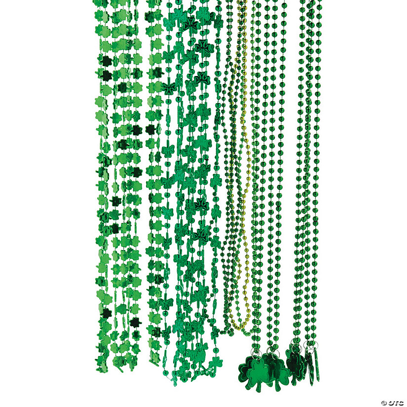 Lucky St. Patrick's Day Bead Necklace Assortment Audio Thumbnail