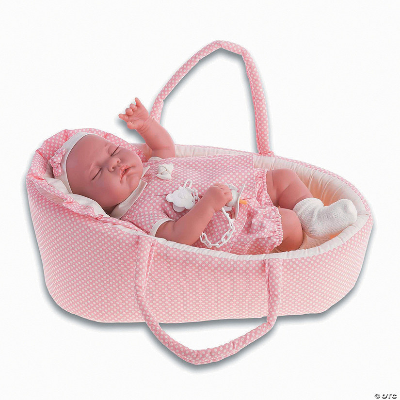 Luna Baby Girl Doll With Bassinet