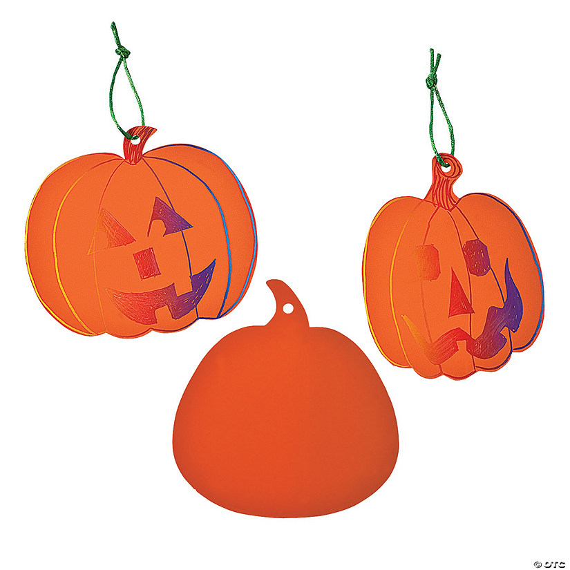Magic Color Scratch Orange Pumpkin Ornaments Image Thumbnail
