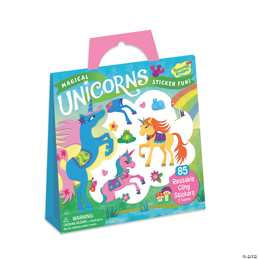 Magical Unicorns Reusable Sticker Tote Image Thumbnail