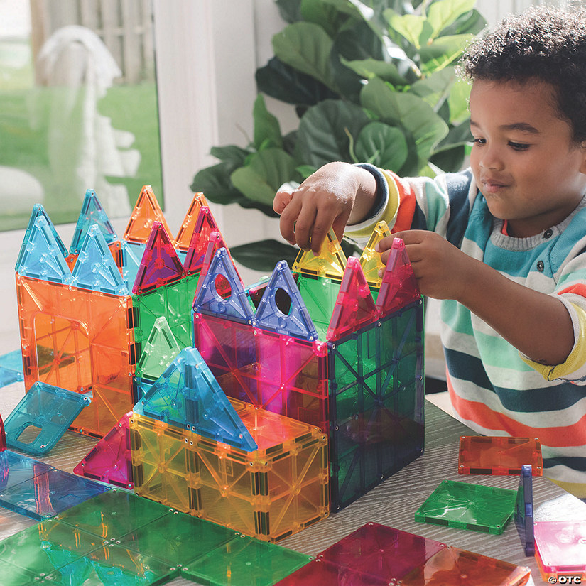 Magna-Tiles® 148 Piece Set with FREE Storage Bin Image Thumbnail
