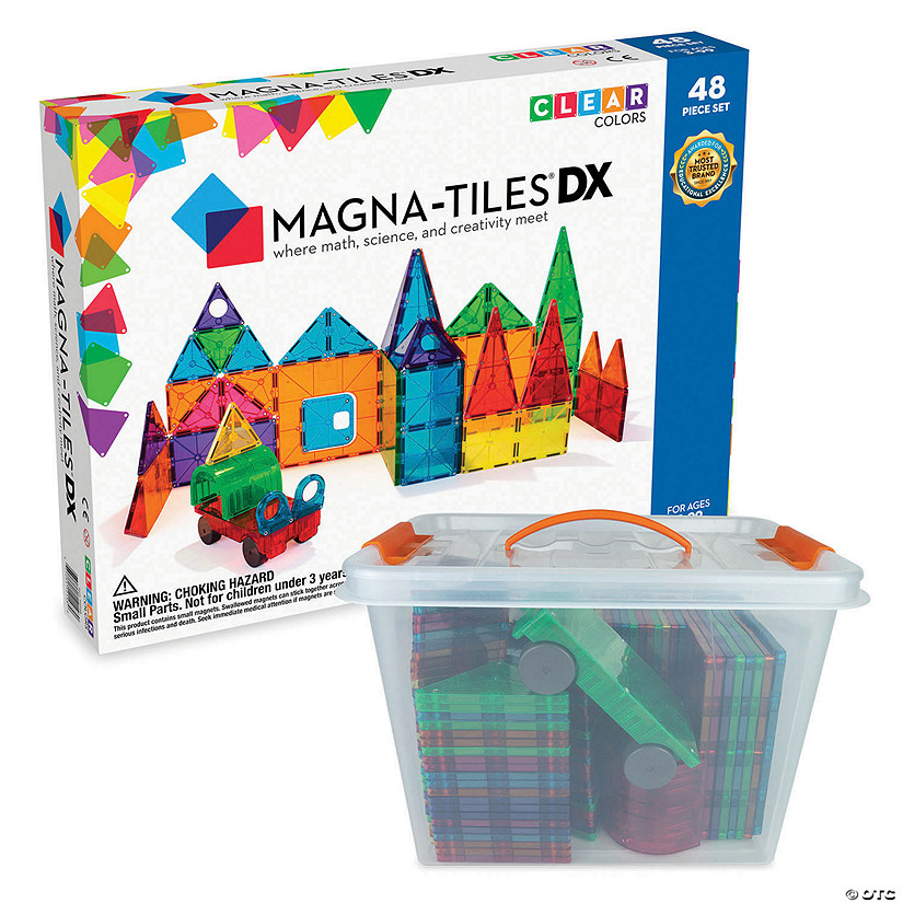 Magna-Tiles® 48 Piece Set plus FREE Storage Bin Image Thumbnail