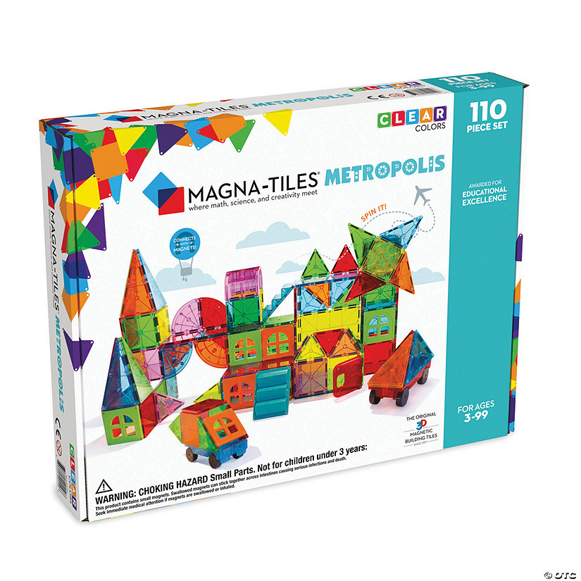 Magna-Tiles® Metropolis with FREE Storage Bin Image Thumbnail