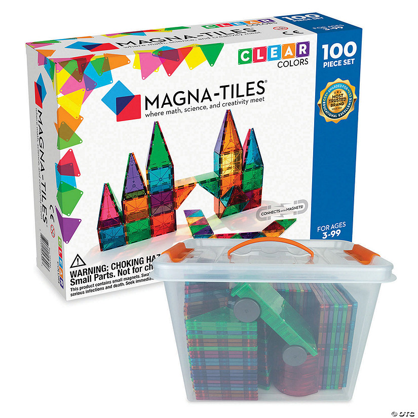 Magnatiles 100pc Set plus FREE Storage Bin Image Thumbnail