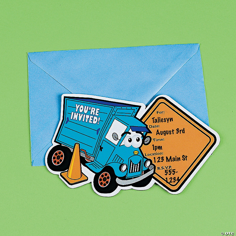 magnetic dump truck invitations discontinued