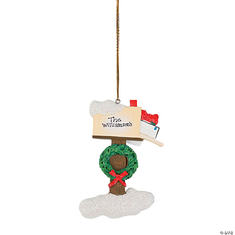 mailbox christmas ornament