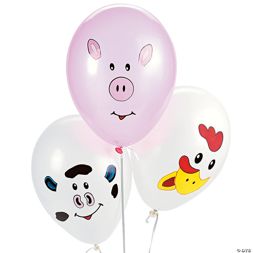 Make Your Own Farm Animal 9 Latex Balloons70 3324a