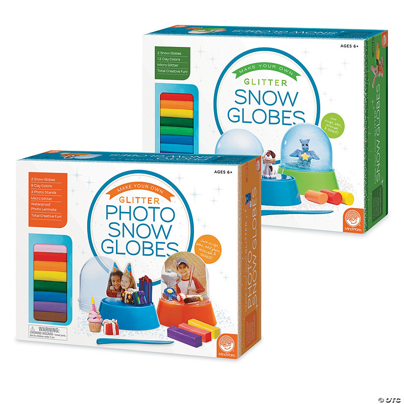 Make Your Own Glitter Snow Globes and Photo Snow Globes: Set of 2 Image Thumbnail
