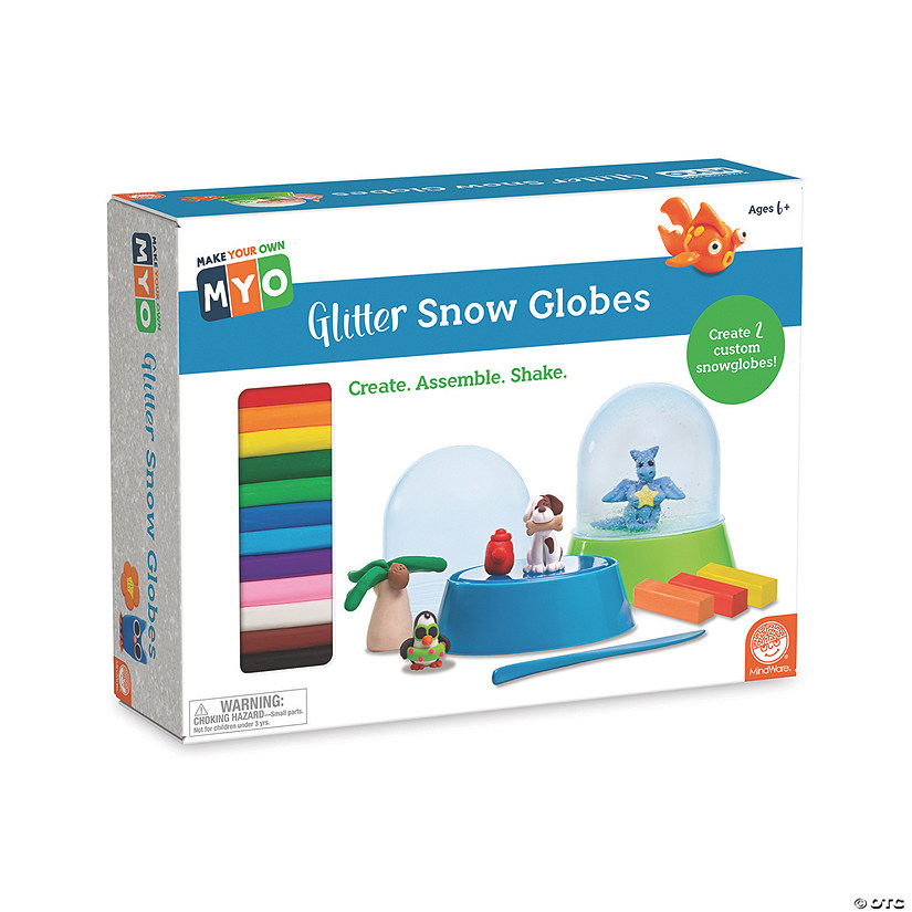 Make Your Own Glitter Snow Globes