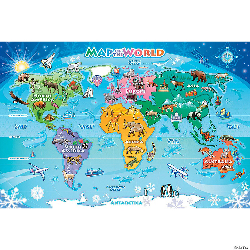Map of the World Floor Puzzle Image Thumbnail