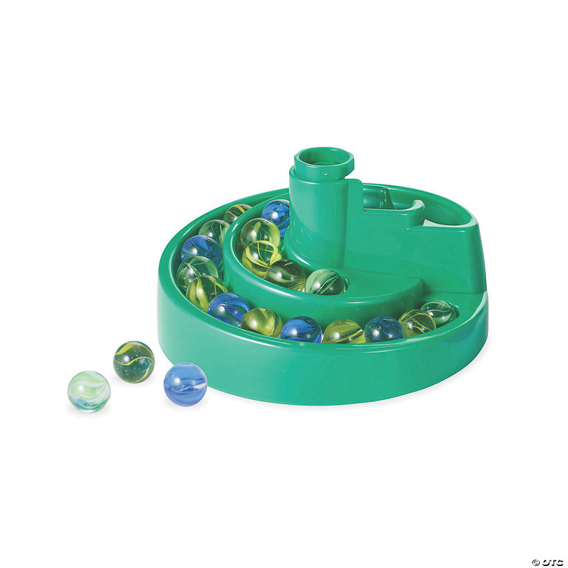 Marble Run: Spiralizer Marble Catcher and 20 Marbles Image Thumbnail