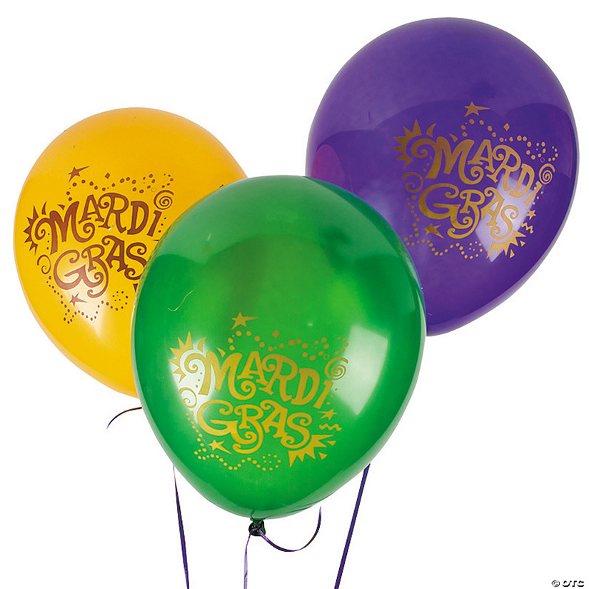 "Mardi Gras 11"" Latex Balloons Audio Thumbnail"