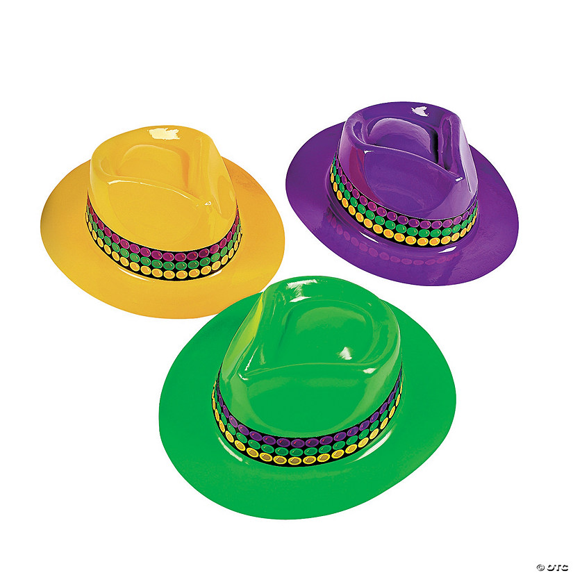 Mardi Gras Fedora Hats Assortment Audio Thumbnail