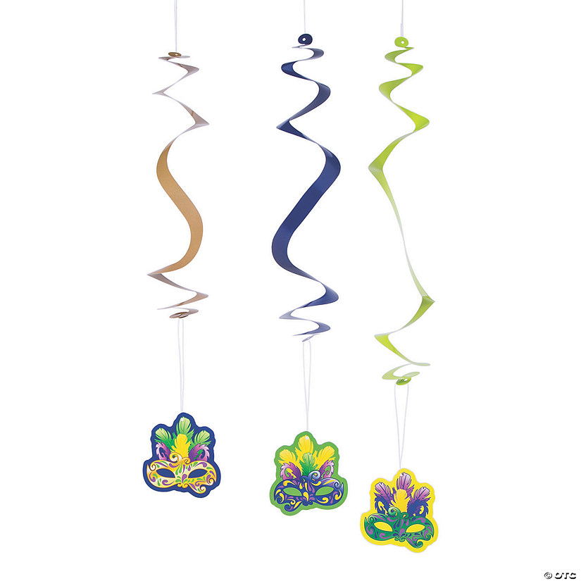Mardi Gras Hanging Swirl Decorations - 12 Pc. Audio Thumbnail