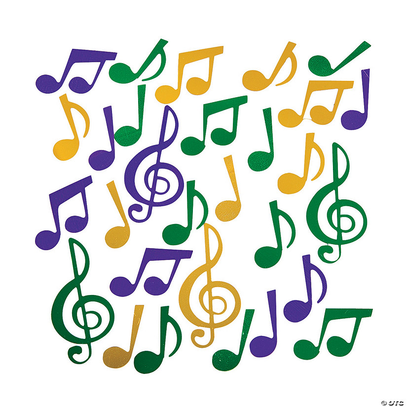 Mardi Gras Music Note Confetti Audio Thumbnail