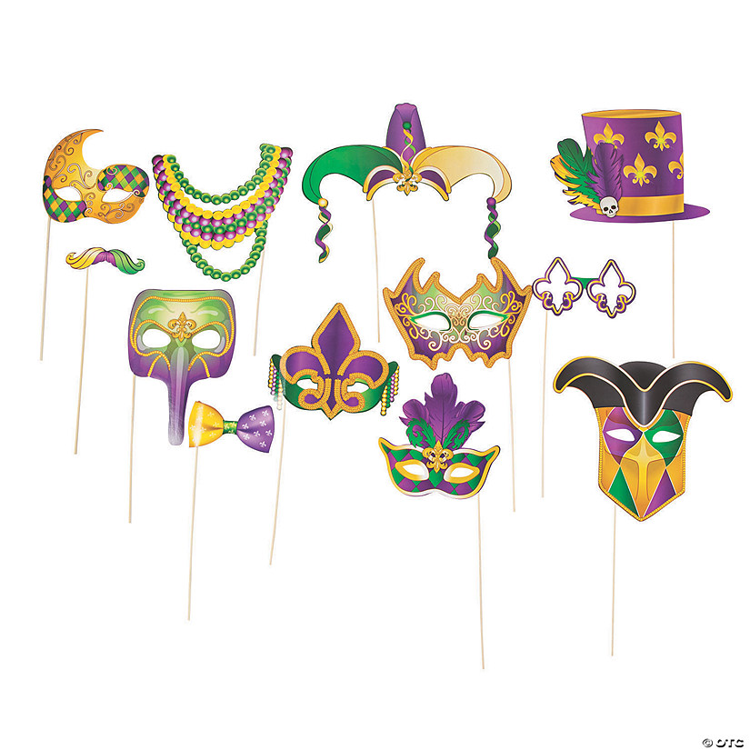 Mardi Gras Photo Stick Props